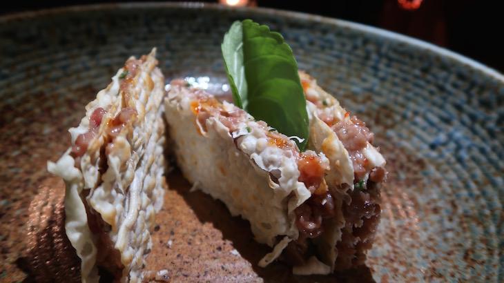 Tártaro de atum em mil folhas - Avenida SushiCafe Lisboa © Viaje Comigo