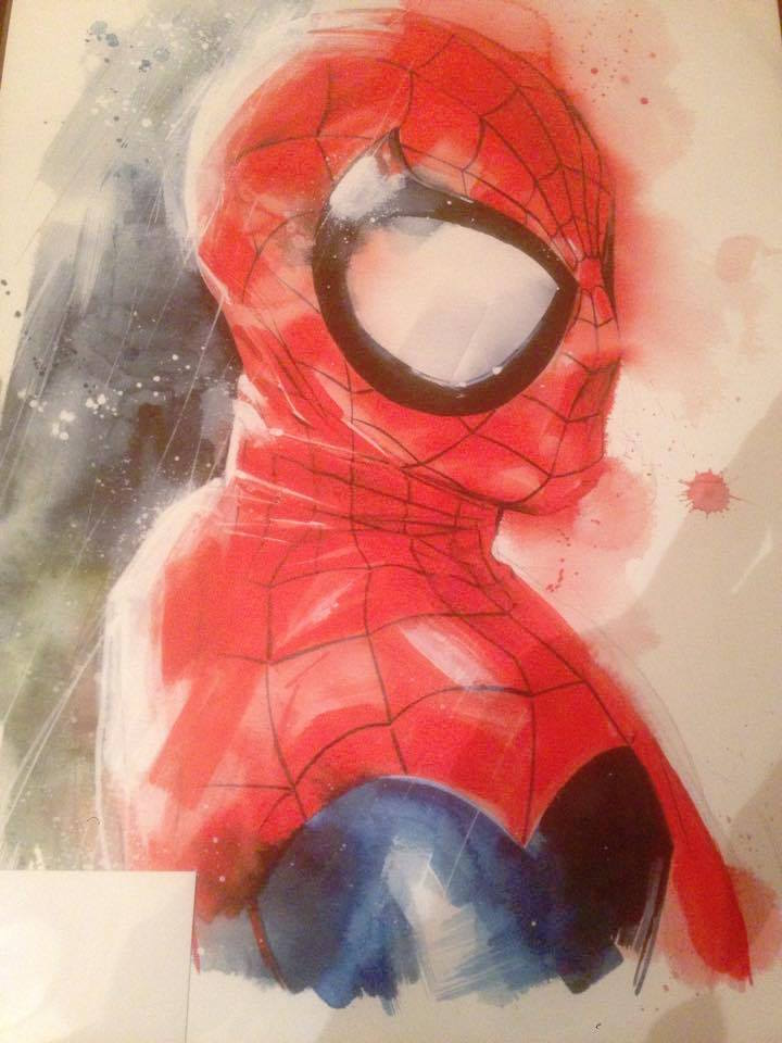 Comic Con Portugal 2015, pintura do Spiderman por Drumond © Viaje Comigo