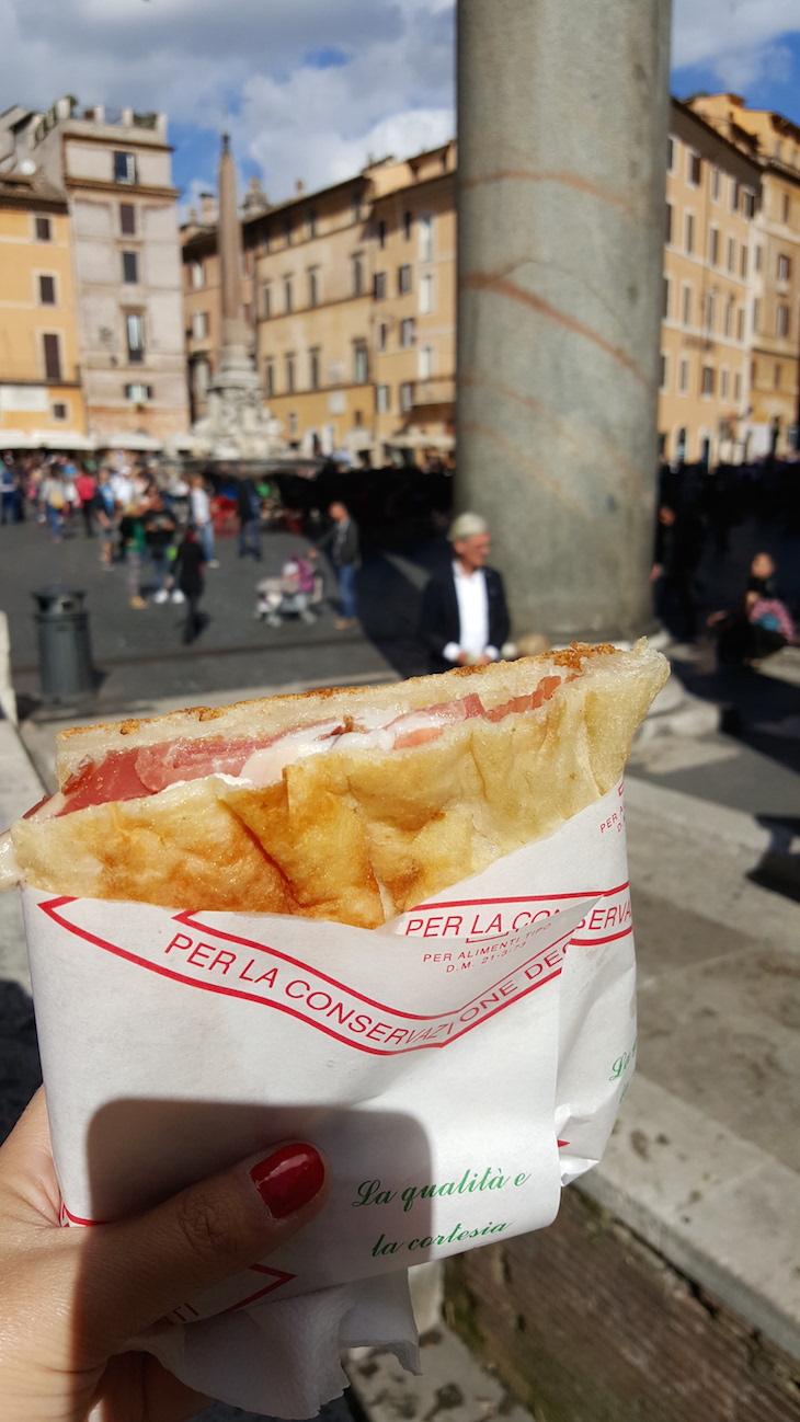 Sanduíche da Antica Salumeria, Roma © Viaje Comigo