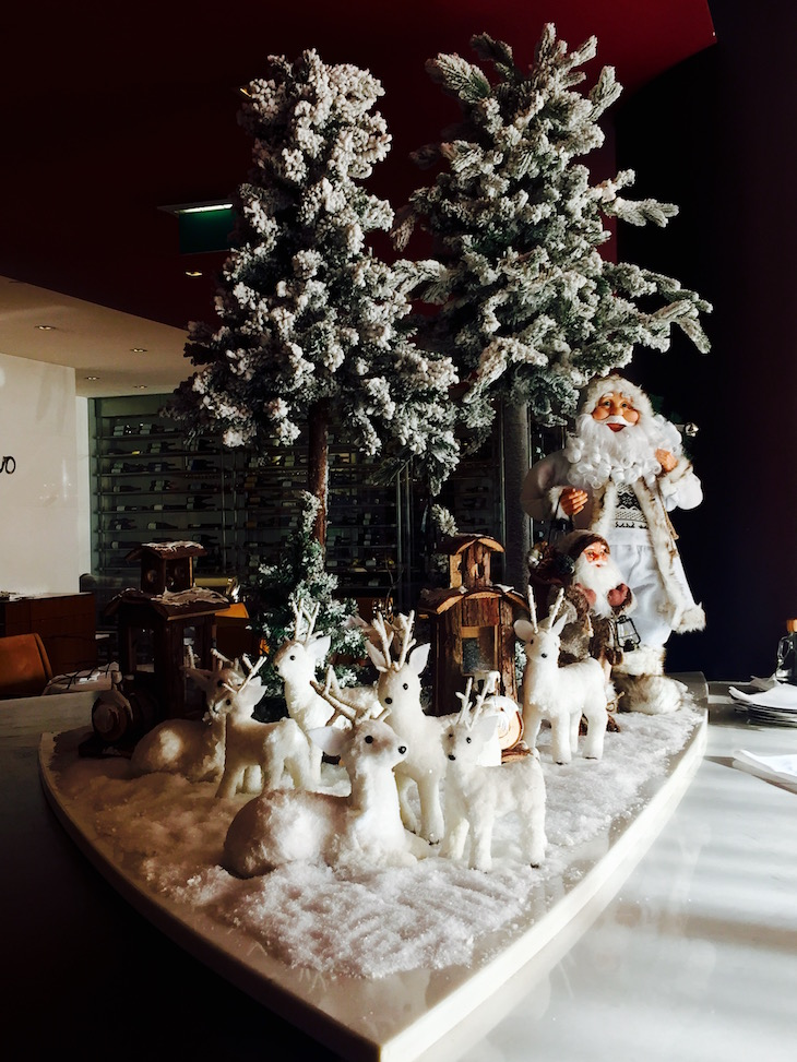 Sheraton Porto, decoração de Natal no Restaurante Porto Novo