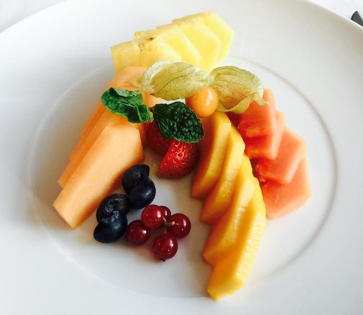 Sheraton Porto, fruta laminada © Viaje Comigo