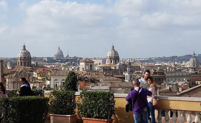 A vista da Terrazza Cafferelli, Roma © Viaje Comigo