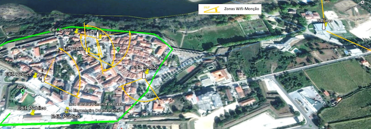 Zonas wifi em Monção