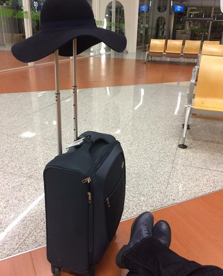 mala Samsonite no aeroporto © Viaje Comigo