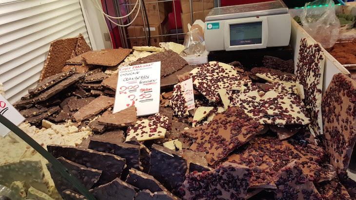 Chocolates no Albert Cuyp Markt © Viaje Comigo