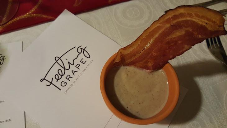 Creme de castanhas e cogumelos e bacon - Feeling Grape - Oporto Wine & Food Atelier © Viaje Comigo