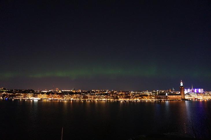 Estocolmo, aurora boreal - Direitos Reservados Andreas Thomée/mediabank.visitstockholm.com