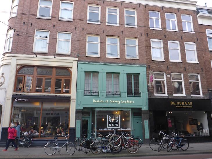 Fachadas bonitas em Amesterdão © Viaje Comigo