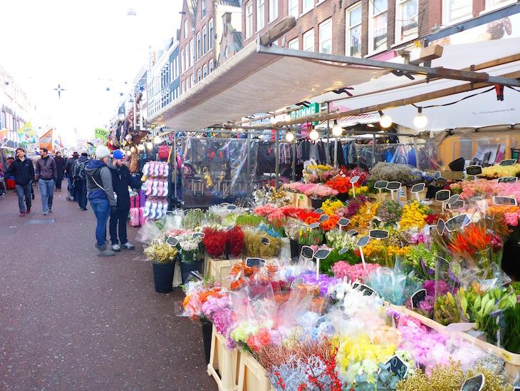 Flores no Albert Cuyp Markt © Viaje Comigo