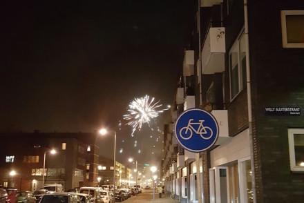 Fogo de artifício no fim de ano em Amesterdão © Viaje Comigo