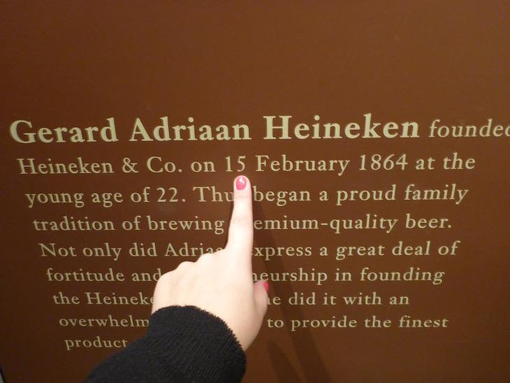 Olha... foi criada no meu dia de aniversário! Heineken Experience em Amesterdão © Viaje Comigo