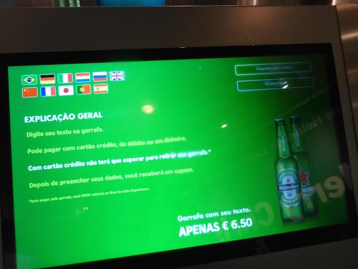 Pode engarrafar a sua própria cerveja na Heineken Experience em Amesterdão © Viaje Comigo