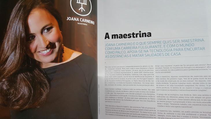 Joana Carneiro na revista Siemens © Viaje Comigo