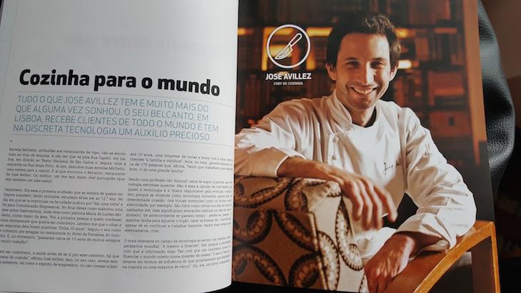 José Avillez na revista Siemens © Viaje Comigo