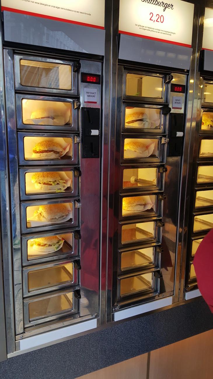 Máquinas com comida, Amesterdão © Viaje Comigo