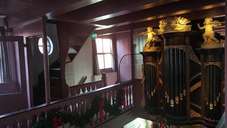 Órgão na Ons' Lieve Heer op Solder em Amesterdão © Viaje Comigo