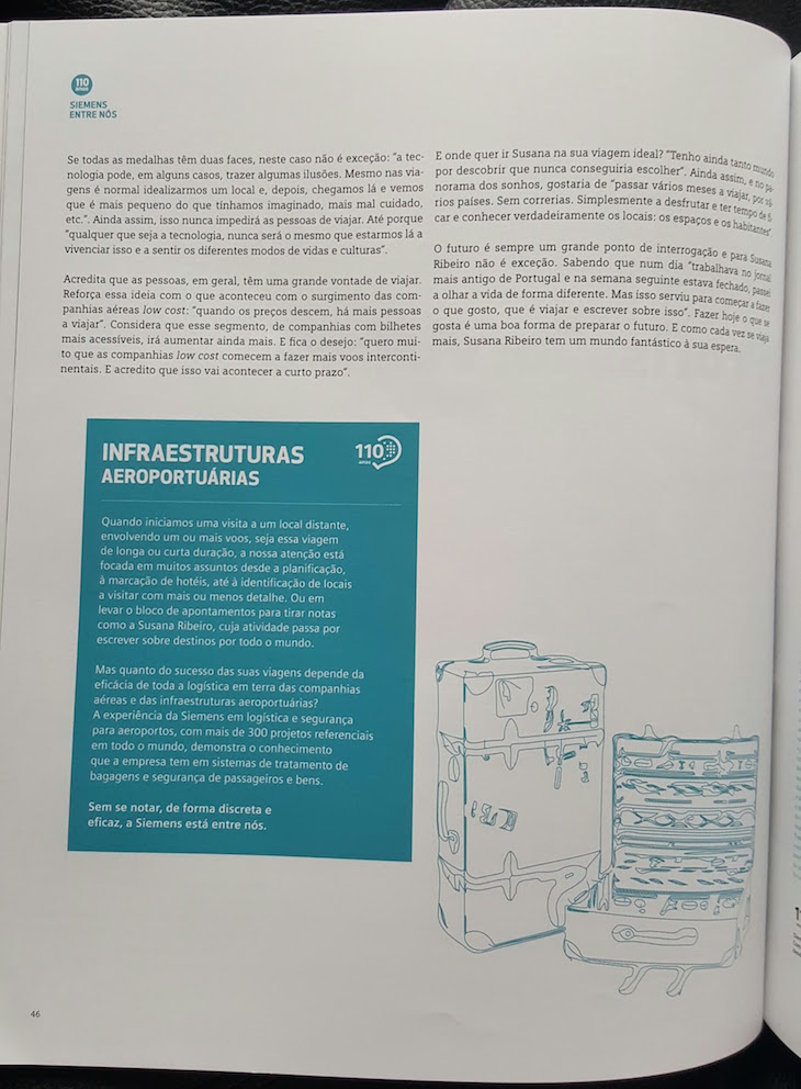 Pagina 2 revista Siemens © Viaje Comigo