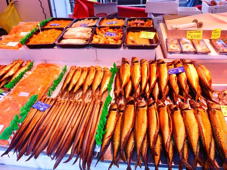 Peixes no Albert Cuyp Markt © Viaje Comigo