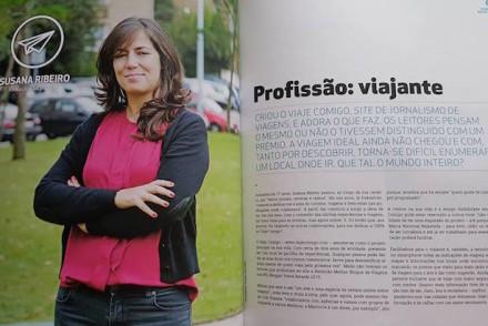 Susana Ribeiro do Viaje Comigo na Revista Siemens © Viaje Comigo