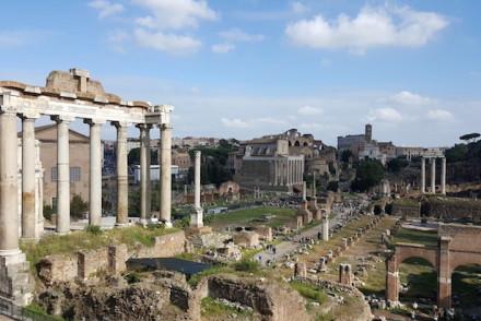 Ruínas em Roma © Viaje Comigo