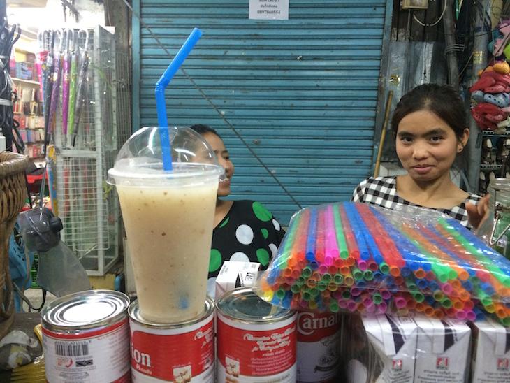 Sumos naturais em Kao San Road Banguecoque - Tailândia © Viaje Comigo