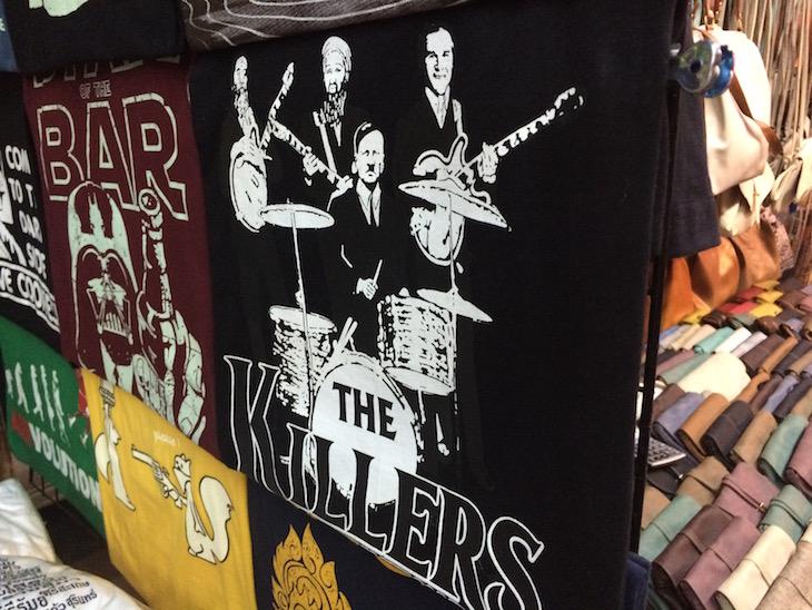 Tshirts na Kao San Road Banguecoque - Tailândia © Viaje Comigo