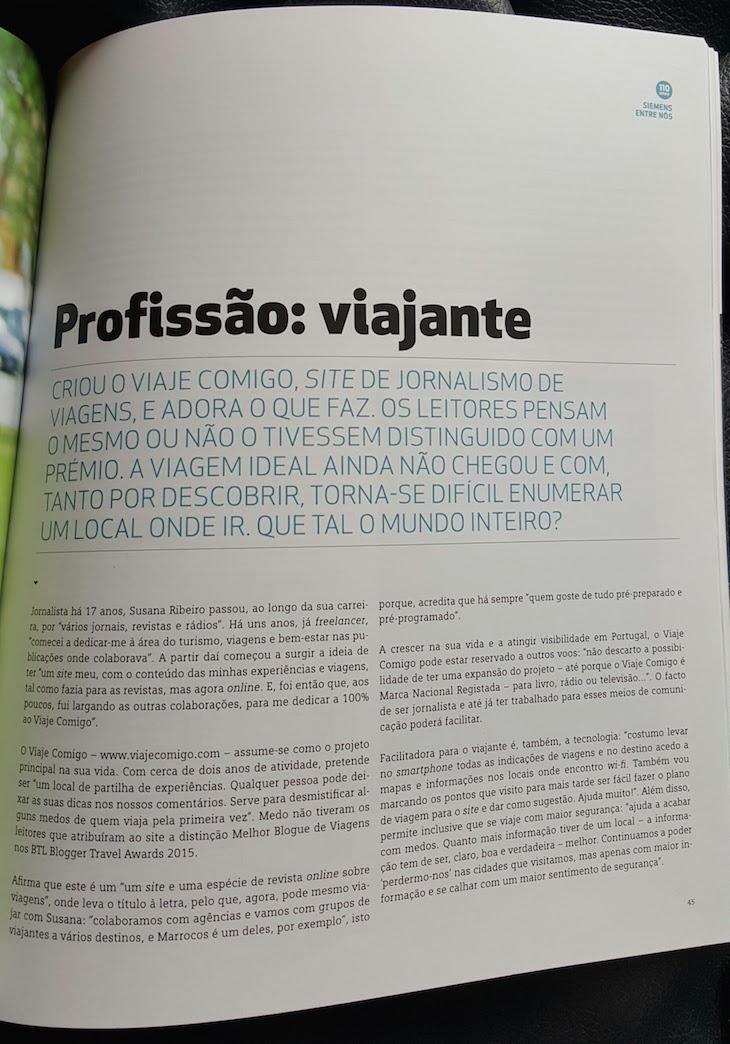 Viaje Comigo na revista Siemens © Viaje Comigo