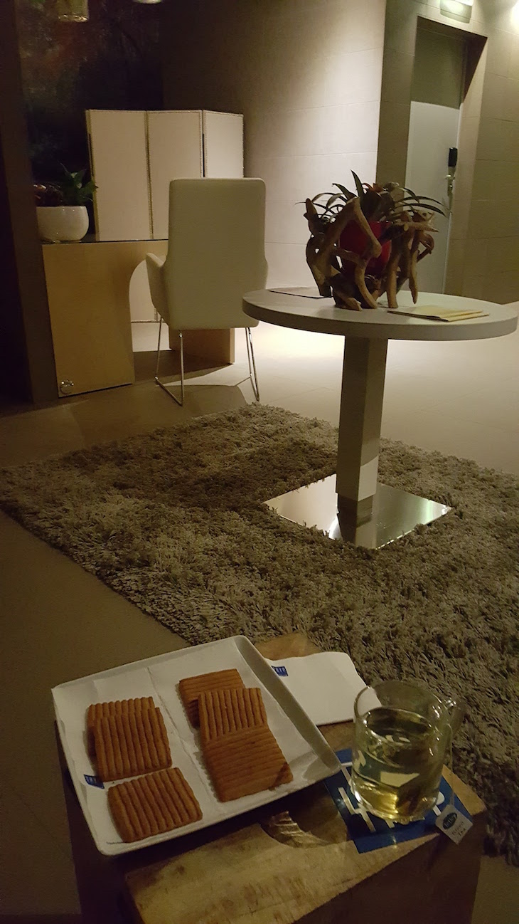 Chá e bolachas no El Spa - Health Club & Spa do Tryp Lisboa Aeroporto Hotel © Viaje Comigo