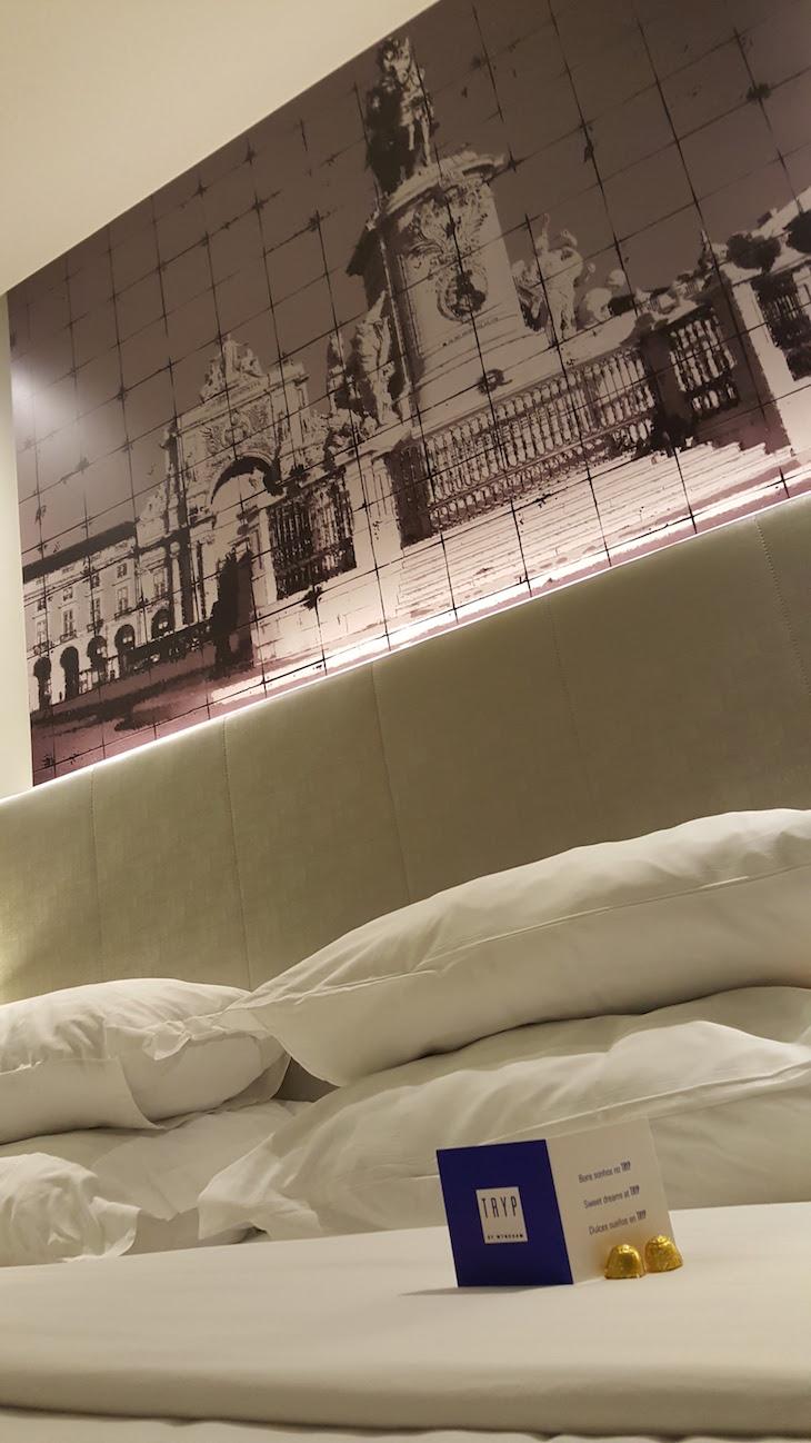 Chocolate na cama do Tryp Aeroporto Lisboa © Viaje Comigo