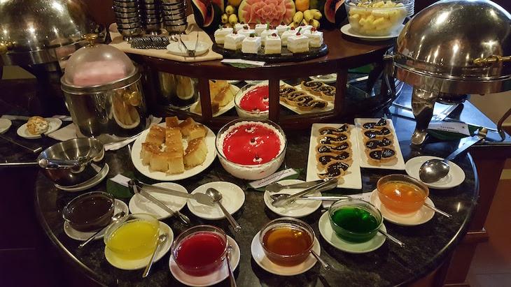 Buffet de sobremesas, Greenwoods Resorts, Kerala © Viaje Comigo