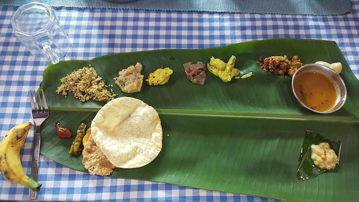 Folha de bananeira - Pranavam Homestays, Kerala © Viaje Comigo