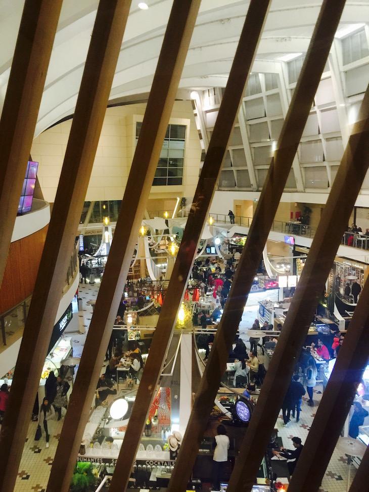 Hotel da Música, vista do 2º piso para o Mercado © Viaje Comigo © Viaje Comigo