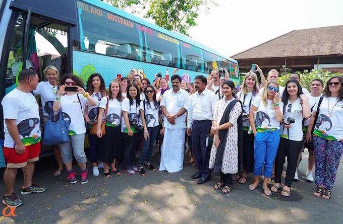 Kerala Blog Express 3 - Bloggers com o mInistro de Turismo, Shri. A. P. Anilkumar