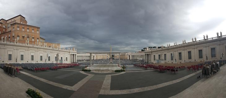 Panorâmica da Praça de São Pedro Vaticano © Viaje Comigo