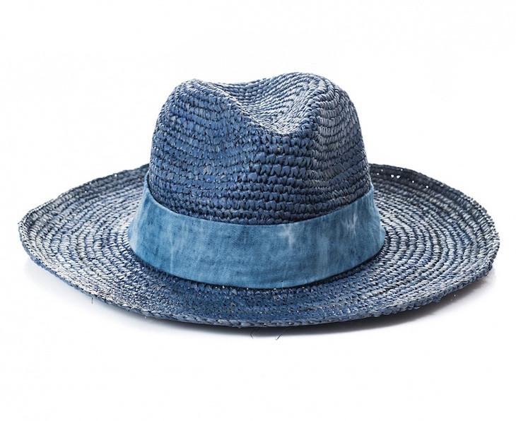Chapéu de ráfia com denim Salsa