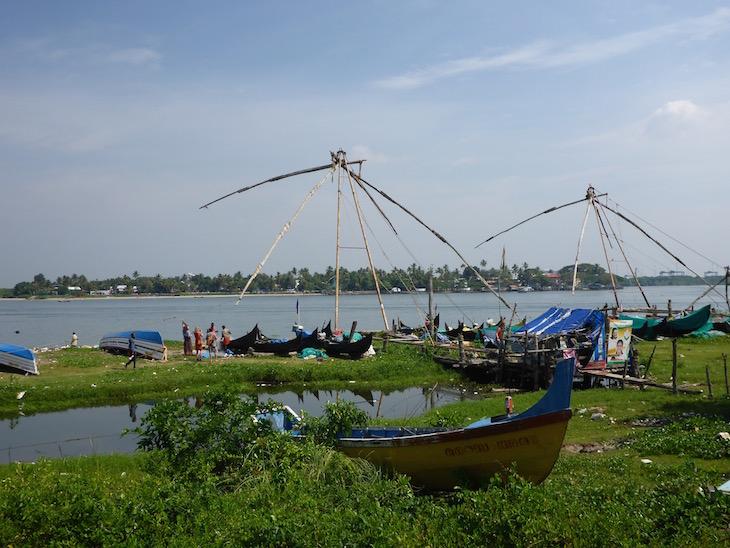 Barcos junto ao Porto de Cochim, Kerala, India © Viaje Comigo