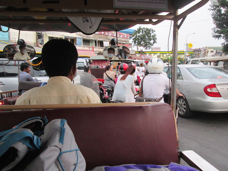 De tuk tuk em Phnom Phen, Cambodja - Foto Andreia Palmeirim