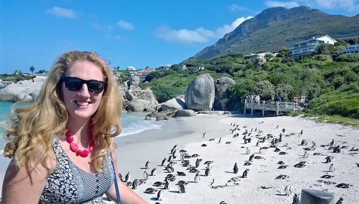Janet Newenham na Cidade do Cabo DR