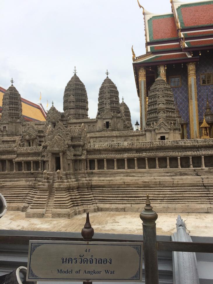 Maquete Angkor Wat - Grande Palácio Real Banguecoque Tailândia © Viaje Comigo