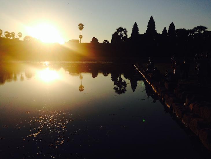 Nascer do sol em Angkor Wat, Cambodja - Foto Andreia Palmeirim