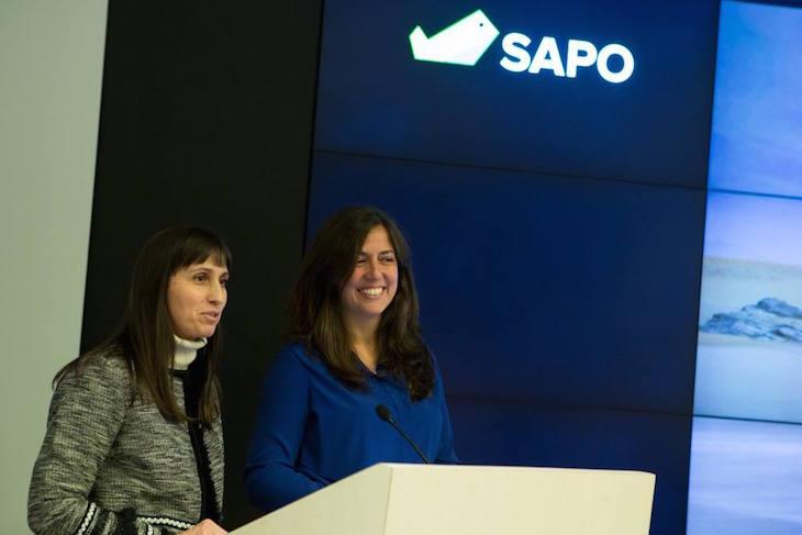 Susana Ribeiro e Filipa Martins na apresentação Sapo Viagens © DR Portugal Telecom : Sapo