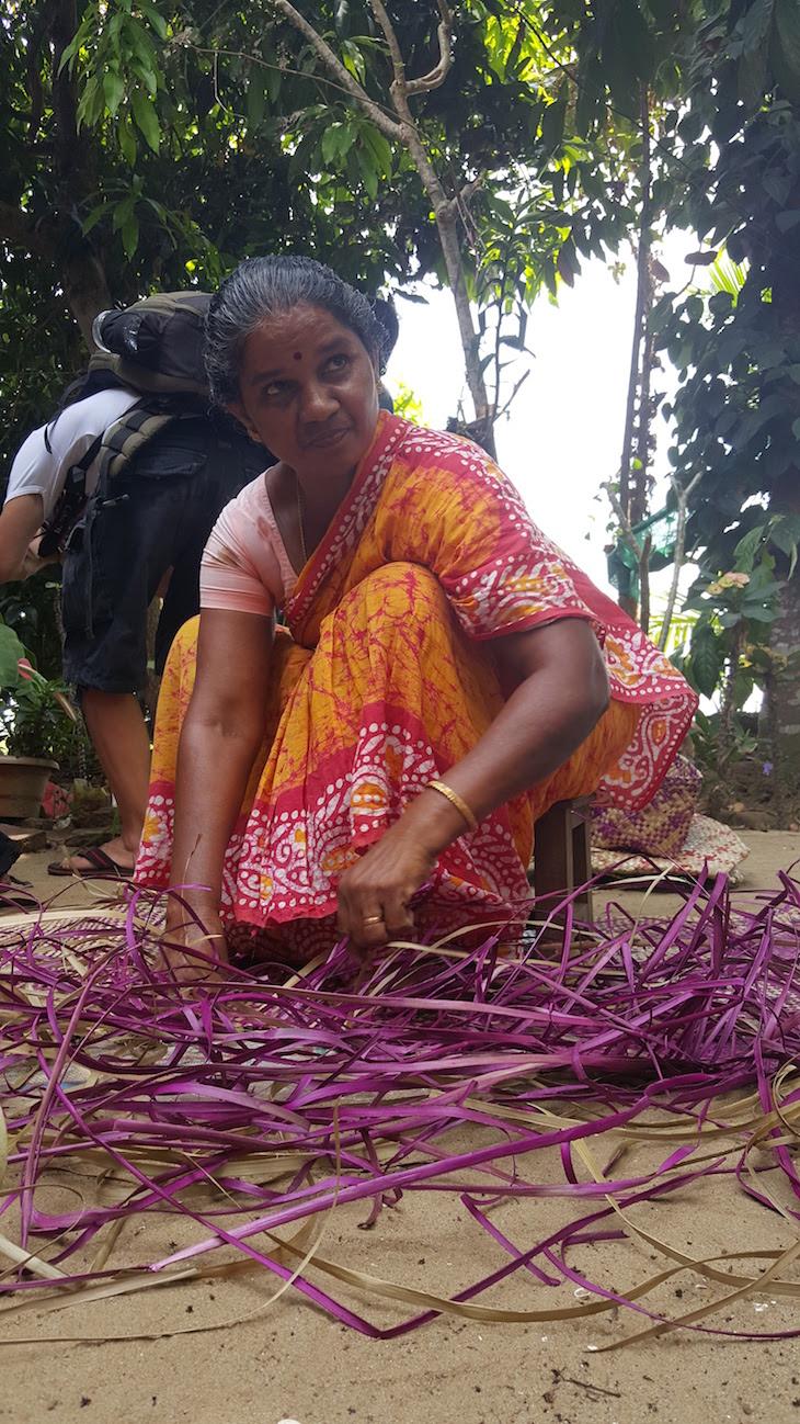 Trabalhar artesanato em Kumarakom, Kerala, Índia © Viaje Comigo