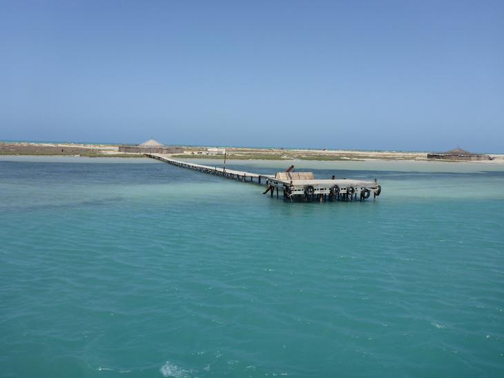 A chegar a Ras R'Mal - Ilha dos Flamingos Djerba Tunisia © Viaje Comigo