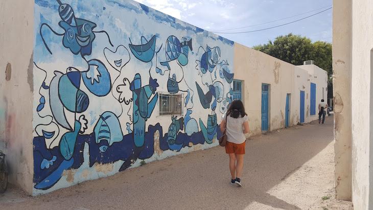 A ver Djerbahood, Erriadh, Djerba, Tunisia © Viaje Comigo
