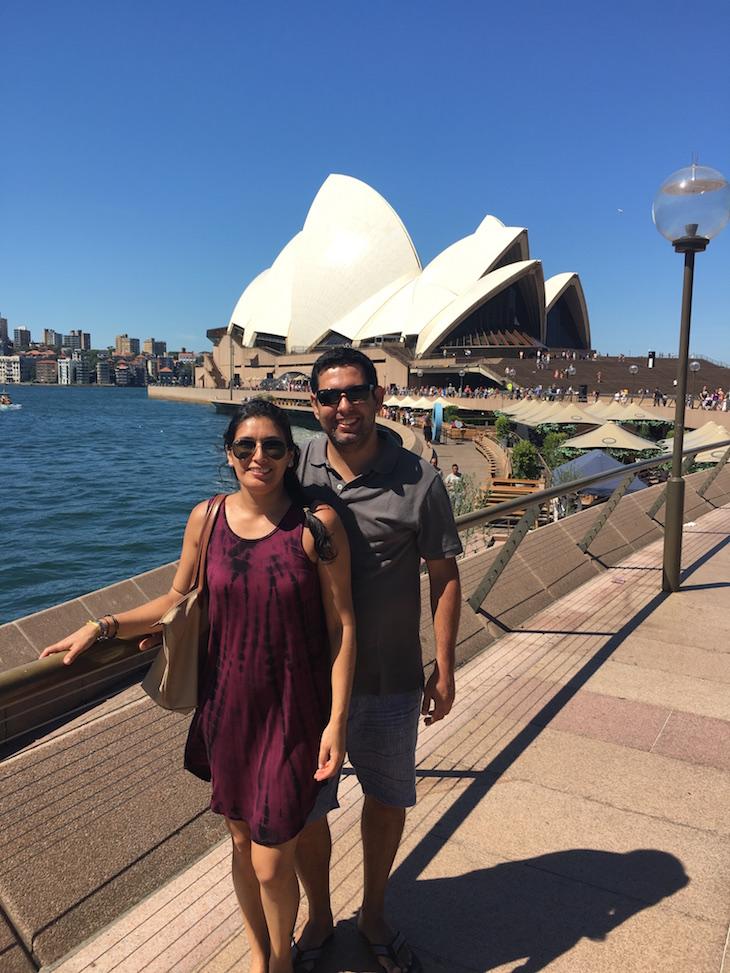 Ana Paula Lopes e Bruno PIres em Sydney