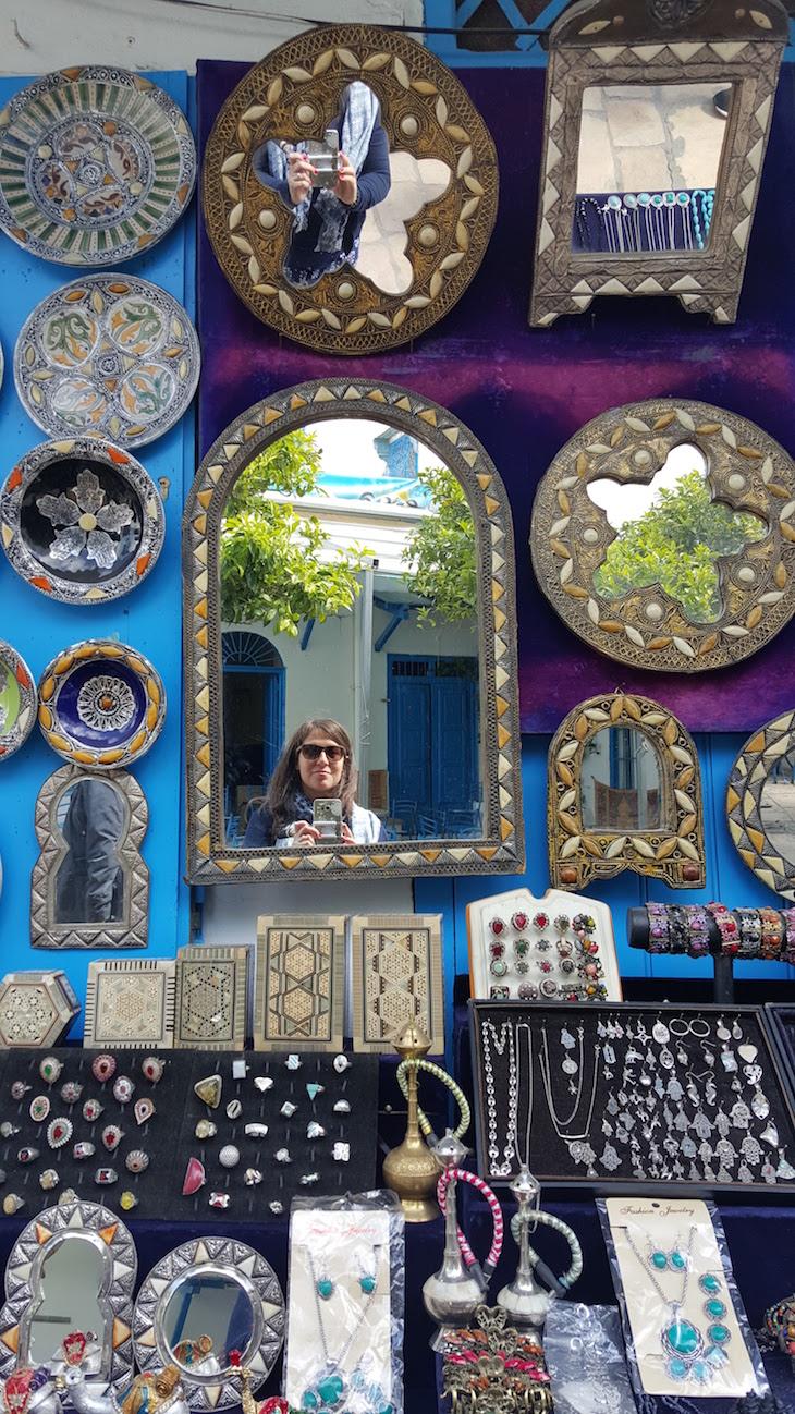 Artesanato em Sidi Bou Said, Tunísia © Viaje Comigo
