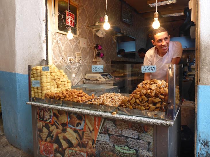 Doces na Medina de Tunes, Tunísia © Viaje Comigo