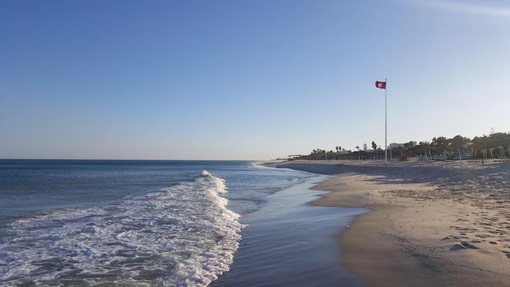 Fim de tarde na praia do Vincci Nozha Beach © Viaje Comigo