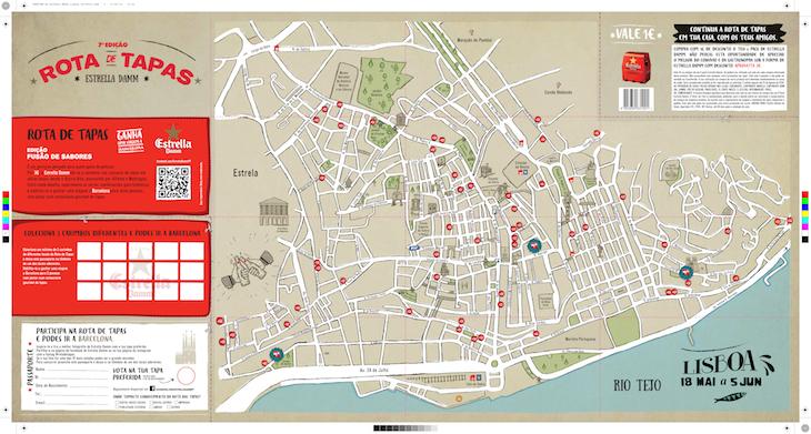 rota das tapas lisboa mapa 7ª edição Rota de Tapas Estrella Damm | Viaje Comigo rota das tapas lisboa mapa