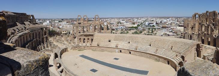 Panorâmica do Anfiteatro El Jem, Tunísia © Viaje Comigo